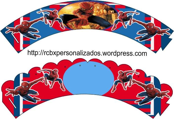 Homem Aranha wrappers-cupcake .Tel:(21) 3758-9010/ 985166258